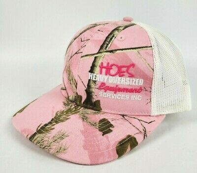 Realtree Pink Hat Cap Mesh Snapback Trucker Style Womens Ladies One Size