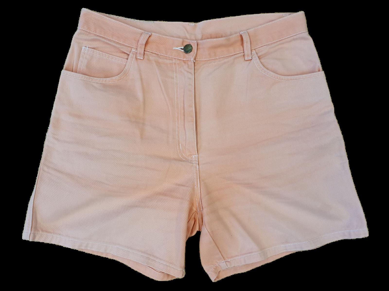 80s 90s Vintage Mom Jeans Shorts Größe EU 44 W32 Lachsfarben/Rosa (V8074)