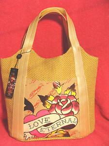 64158c5c897f Image is loading NWT-ED-HARDY-CHRISTIAN-AUDIGIER-TOTE-BAG