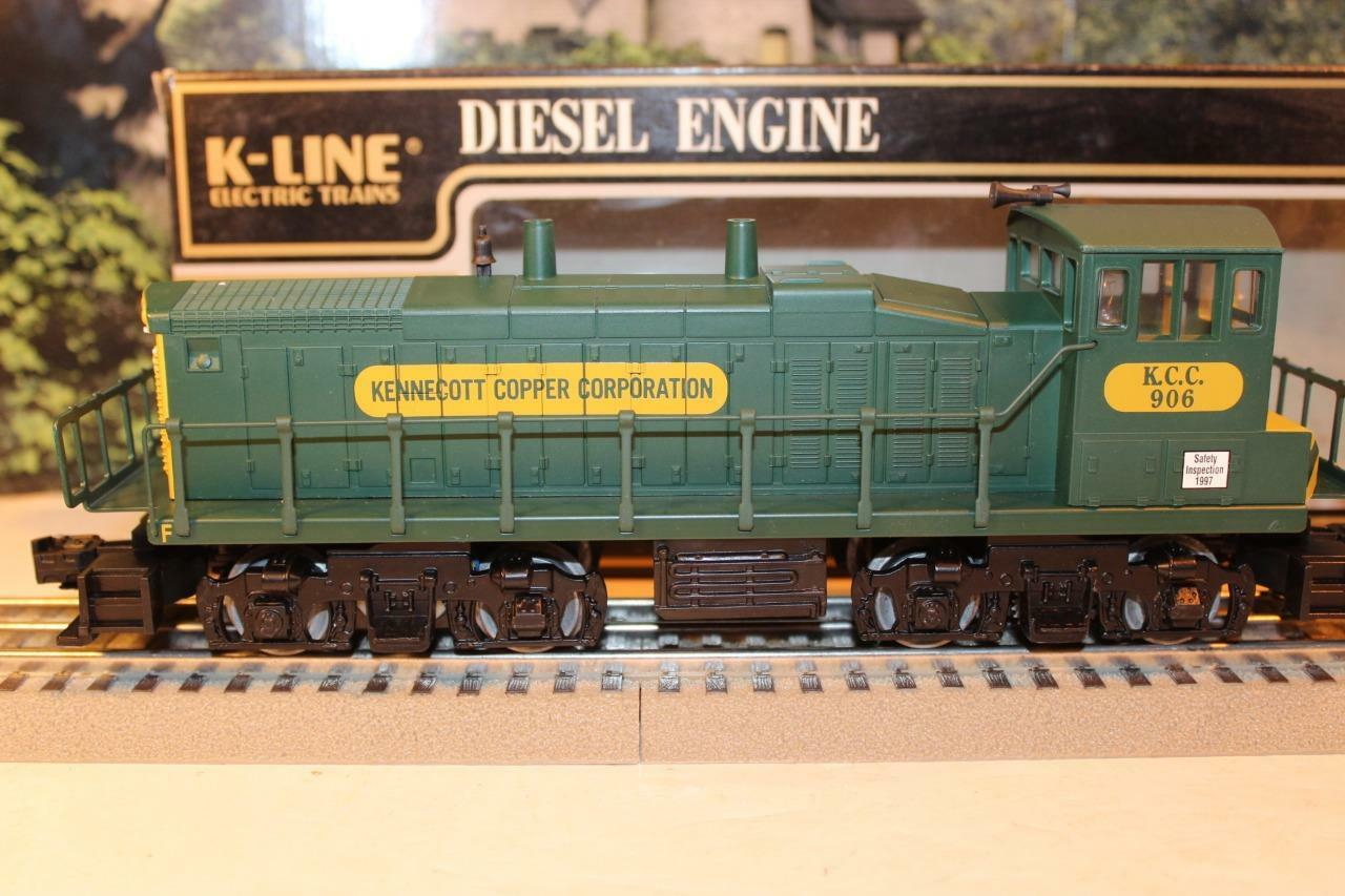 VINTAGE K-LINE TRAINS - 22521C- KENNECOTT  MP-15 DIESEL SWITCHER- 0/027- W20