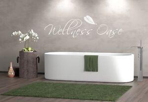 Details zu Wandtattoo Badezimmer Wellnessoase Wellness Oase Sticker ,  Schlafzimmer,
