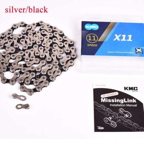 KMC 8-11s Chain MTB Road Hollow X//EL Gold Chains Silver Gray//Black Titanium//Gold