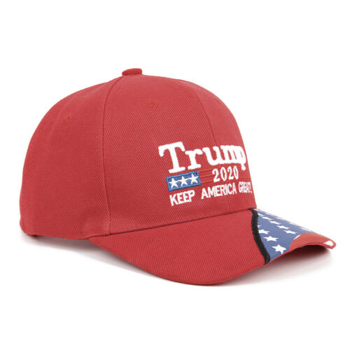 Trump 2020 Hat Keep America Great 3D Red Embroidery Unisex Baseball Cap Gift //c2