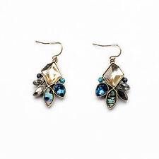 Vintage Bronze Fashion Stone Earrings