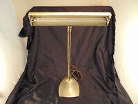 Vintage metal Gooseneck Lamp Brass bulb light adjustable home decor desk MCM Art