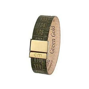 IL-CENTIMETRO-Bracciale-uomo-donna-green-Gold-C948S-pelle-made-in-Italy-dorato