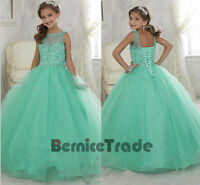 Girl Kids Flower Girl Pageant Dresses Birthday Prom Party Princess Ball Gown