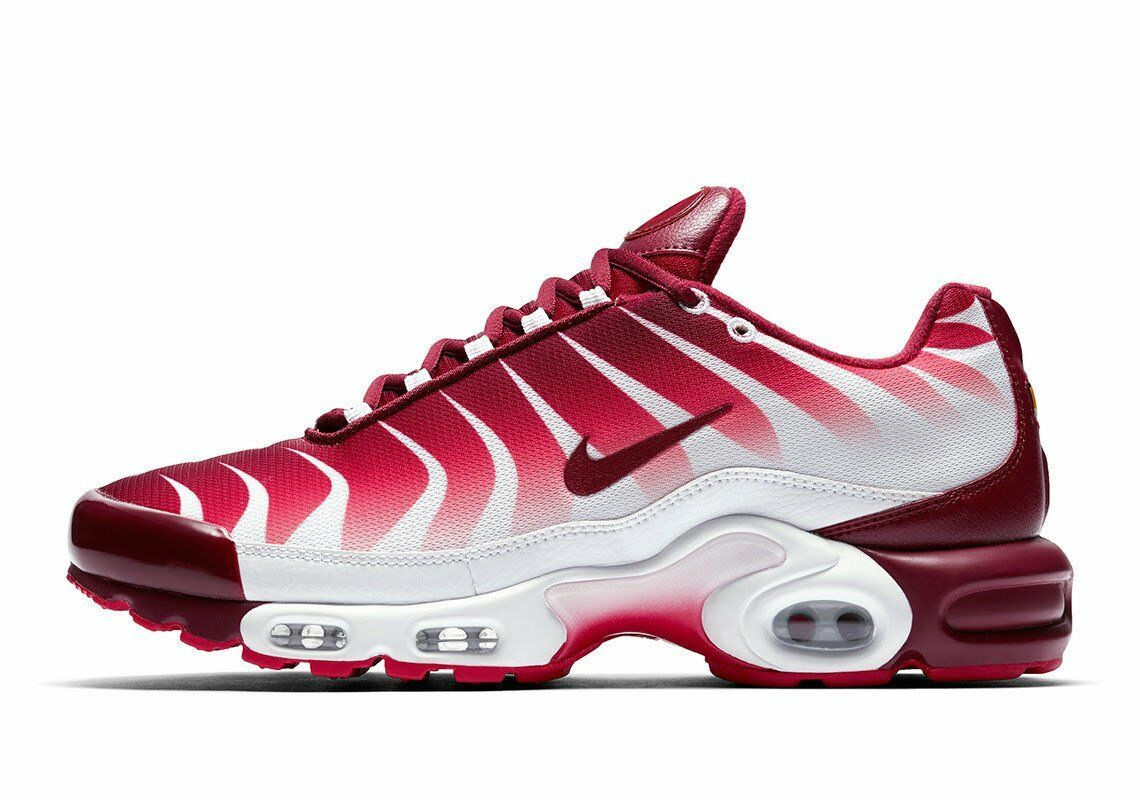 Nike Air Max Plus TN Tuned After The Bite White Team Red Speed AQ0237-101 Shark
