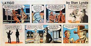 Latigo-by-Stan-Lynde-Western-comic-scarce-color-Sunday-page-Sept-9-1979