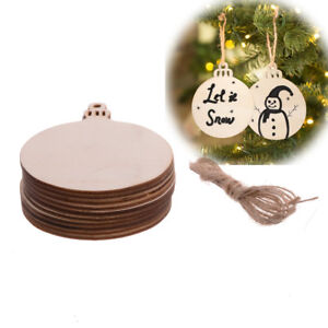 Details About Wooden Round Baubles Christmas Mdf Wood Craft Blanks Decorations Painting Diy
