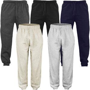 Para-Hombre-Polar-Trotar-Pantalones-de-pista-Raiken-Pantalones-Con-botamanga-sudor-Jogging