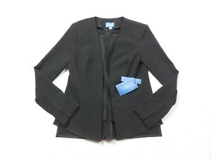 NEW-Simply-Vera-Wang-Blazer-Womens-Medium-Black-Coat-Jacket-Casual-Stretch