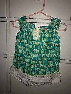 NWT Gymboree Seashore Smiles Pineapple Bloomer Outfit Set 2PC Baby Girl