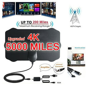 Plage-5000-Mi-environ-8046-72-km-HDTV-Antenne-HD-4K-Indoor-Numerique-Antenne-TV-Signal-Amplificateur