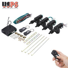 4 Door Power Central Lock Kit With 2 Keyless Actuator For Auto Vehicle Universal