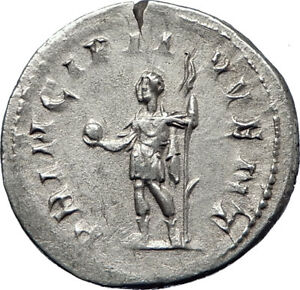 PHILIP-II-Roman-Caesar-with-globe-244AD-Silver-Rare-Ancient-Roman-Coin-i70202