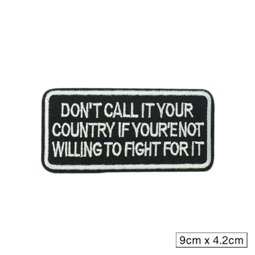 Words Slogan Embroidered Iron on Biker Motorcycle Patches Fabric Badge Sticker