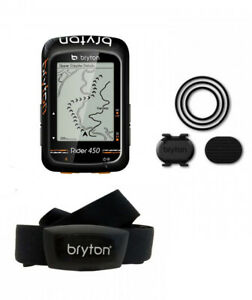 Details about BRYTON GPS Rider 450T computer with heart rate band & Cadence  sensor included