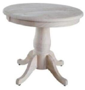 Whitewood Round Pedestal Table Set Top amp Base K OT22RT