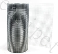 """Welded Wire Mesh 1/2"""" x 1/2"""" x 30m 2 widths Aviary Hutches Fencing Pet Run Coop"""