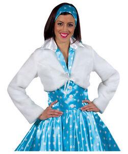 3cb0f1edf8c33d 50er 70er Jahre Kleid Kostüm Rock n Roll Teddy Jacke Bolero Fell ...