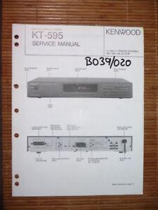 Nachdenklich Service-manual Kenwood Kt-595 Tuner original Zu Den Ersten äHnlichen Produkten ZäHlen Tv, Video & Audio
