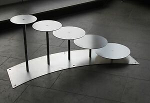 Aluminium 5 Etagen Etagere Alu Treppe Hochzeitstortenstander