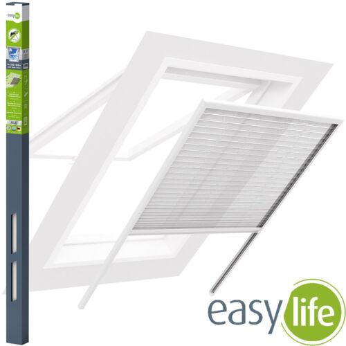Protection Insectes Fenêtre de toit plissé Moustiquaire au cadre en aluminium protection solaire Stores