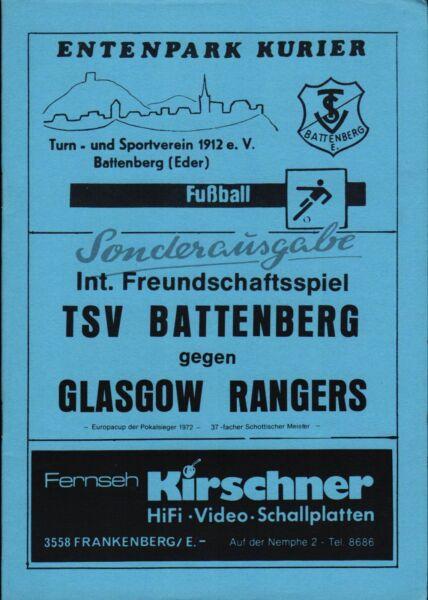 22.07.1986 Tsv Battenberg - Glasgow Rangers