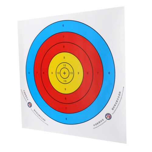 12 Pieces Archery Target Paper for Recurve Bow Longbow 43x43cm