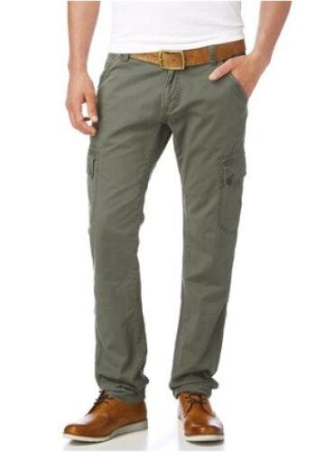 Tom Tailor Cargohose W32 L36 Herren Pants Khaki Freizeithose Slim Denim Chino