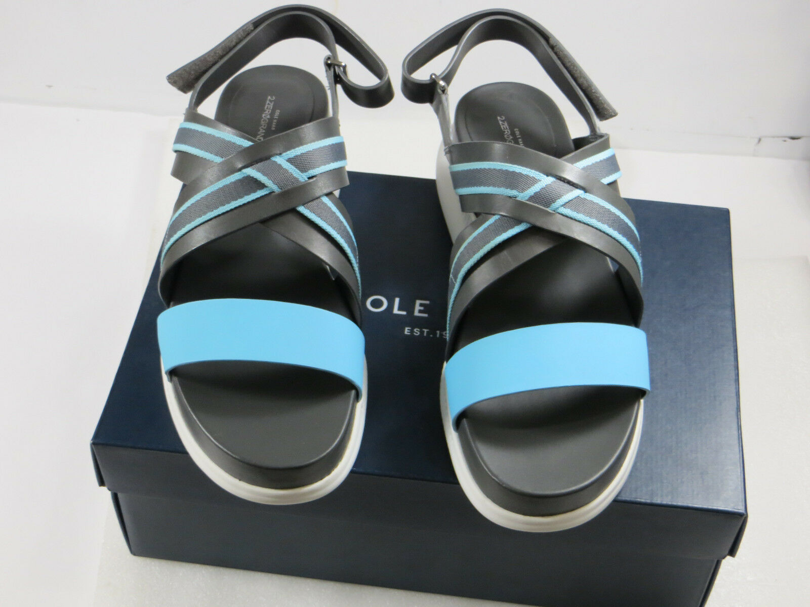 NIB COLE HAAN Womens leather 2.ZERØGRAND,casual,comfy strapy strapy strapy sandals 11B  150 fe6960
