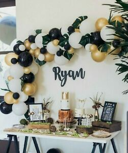 Details About Diy Gold Black White Balloon Garland Kit Party Decorations 3m Party Supplies