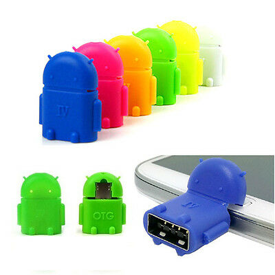 New Hot 1XRobot Micro USB Host OTG Adapter Cable for Android HTC Samsung LG HTC