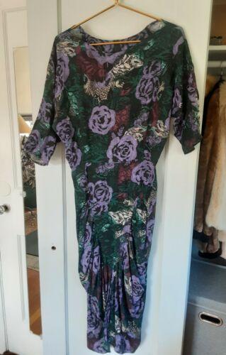Vintage JONI blair Floral Midi Dress,