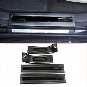 Black-Steel-Inner-Door-Sill-Scuff-Plate-Guards-For-Land-Rover-Discovery-5-17-18