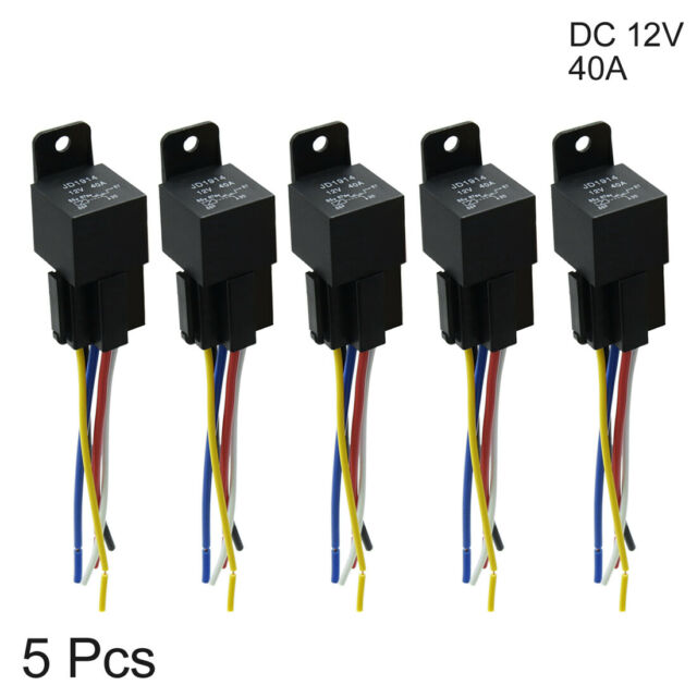 Dc 12v 40a Spdt Automotive Car Relay 5 Pin 5 Wires W