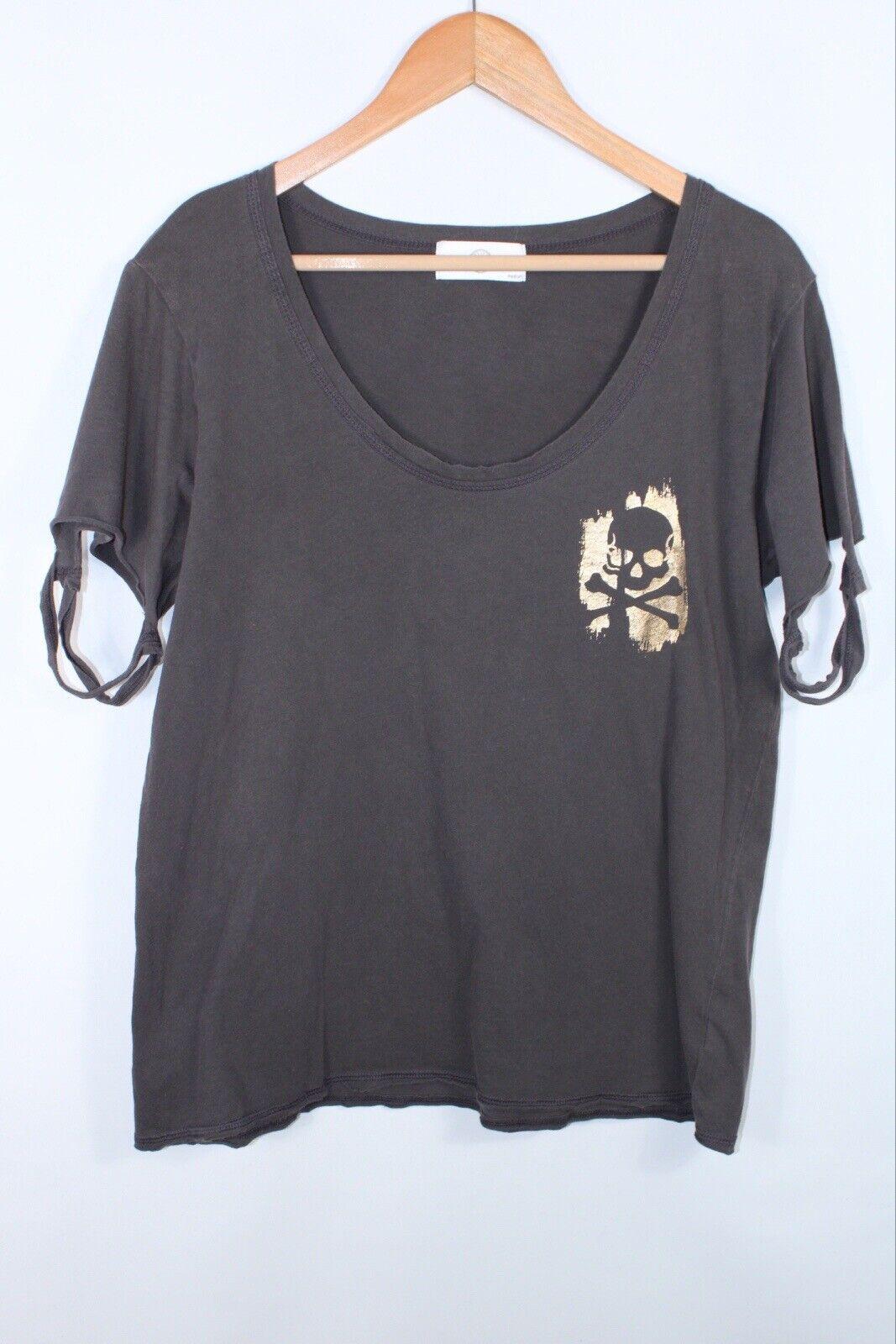 Soulcycle Women's Medium Gray Gold Short Sleeve T-Shirt