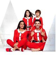 Men's Or Women's Santa Claus Christmas Holiday Pajamas Set Pjs Small