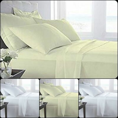 100/% Egyptian Cotton Flat Bed Sheets 400 Thread Count Fitted Bed Sheets 400TC