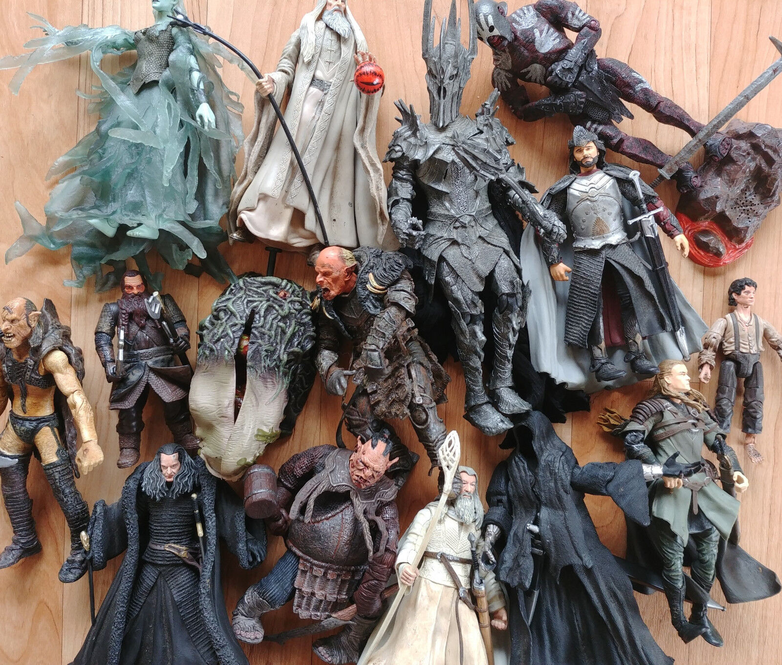 Huge multi-listing Lord of the Rings action figures ToyBiz Half Moon Used LOTR