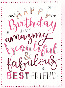 Image Is Loading Best Friend Happy Birthday Greeting Card Inspired By