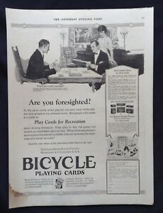 1919-Vintage-Game-Magazine-Ad-Bicycle-Playing-Cards-Cribbage-Players