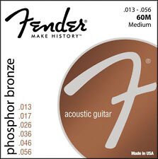 Fender 60M Phosphor Bronze Acoustic Guitar Strings 13-56 medium gauge