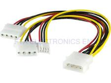 4Pin IDE ATA Power Supply ATX Splitter Cable Molex Male to 2pcs Female 1 Floppy