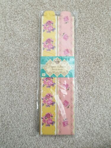 Beautuful Floral Paper Chains 100 Afternoon Tea Party talking tables pink yellow
