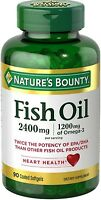 Nature's Bounty Fish 2400 Mg Oilsoftgels 90 Ea (pack Of 5) on sale