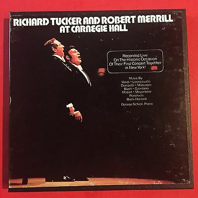 Sweet-Tempered Richard Tucker Robert Merrill Carnegie Hall Lonj 490232 Reel To Reel 7 1/2 Ips Music