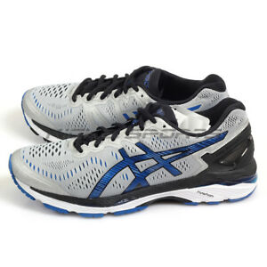 new style 98894 c4d39 Details about {Kickz} Asics GEL-Kayano 23 (2E) Silver/Imperial/Black  Running Shoes T647N-9345