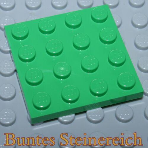 10 Stück hell grüne 1/3 Steine TT10 BAUPLATTEN 4x4  in grün 3031 & unbespielt